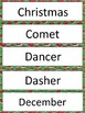Christmas Word Labels