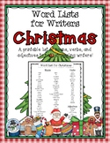 Christmas Word List for Writers