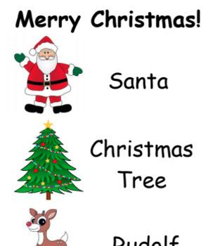 Christmas Word Lists
