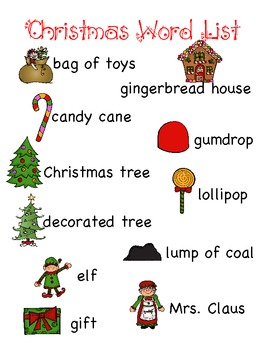 christmas word lists and word wall words by robynn dr tpt