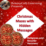Christmas Word Maze Puzzles with Hidden Messages (Religious and Secular)