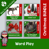 Christmas Parts of Speech, Syllables, ABC Order BUNDLE: K-2