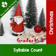 Christmas Parts of Speech, Syllables, ABC Order, Making Wo