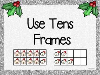 Christmas Word Problems Addition and Subtraction within 20 Think Boards