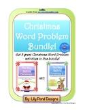 Christmas Word Problem Bundle