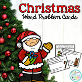 Christmas Word Problem Cards: Addition, Subtraction, Multiplication, Division