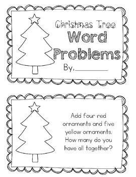 Christmas Word Problem Mini Booklet