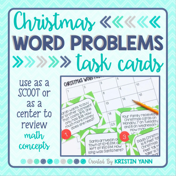 Christmas Word Problem Scoot
