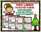 Christmas Word Problem TASK CARDS Second Grade