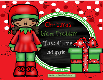 Christmas Word Problem Task Cards (2nd grade)
