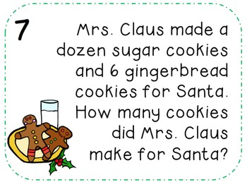 Christmas Math Word Problems FREE
