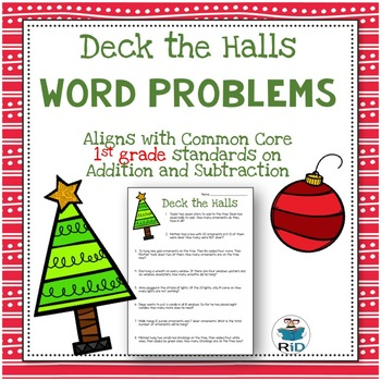Christmas Word Problems: 1st Grade