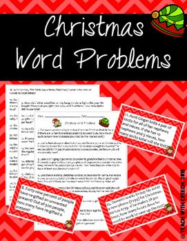 Christmas Word Problems