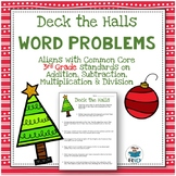 Christmas Word Problems: 3rd Grade