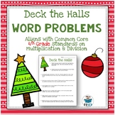 Christmas Word Problems: 4th Grade