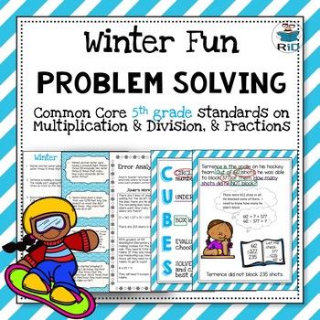 Winter Word Problems: 5th Grade