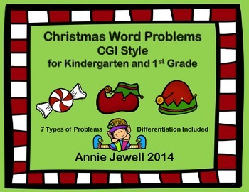 Christmas Word Problems for Kindergarten and 1st Grade