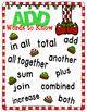 Christmas Word Problems Game, Worksheets, Helper Hand Out, Anchor Charts
