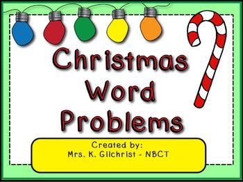 Picture A Christmas Flipchart.Christmas Word Problems Promethean Activinspire Flipchart Lesson