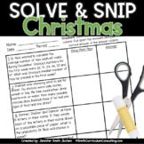 Christmas Math Activity | Solve and Snip® | Math Station |