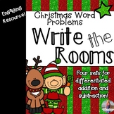 Christmas Math: Word Problems Write the Rooms [Add & Subtract!]