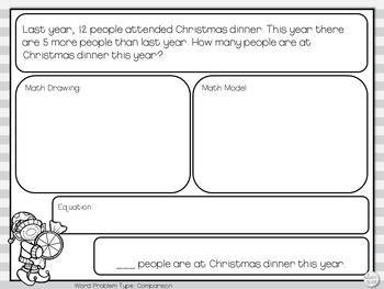 Christmas Word Problems for Addition and Subtraction