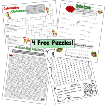 Christmas Word Puzzles