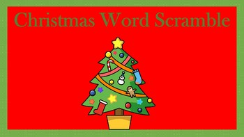 Christmas Word Scramble Activity
