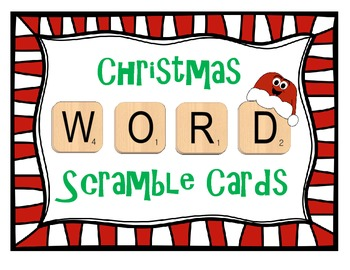 Christmas Word Scramble Cards