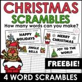 Christmas Word Scramble Freebie! How many words can you make?