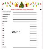 Christmas Word Scramble Game- Holiday Fun!  Printable