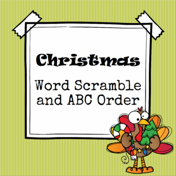 Christmas Word Scramble and ABC Order Cut and Paste