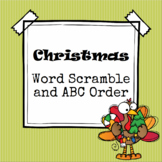Christmas Word Scramble and ABC Order (Cut and Paste)