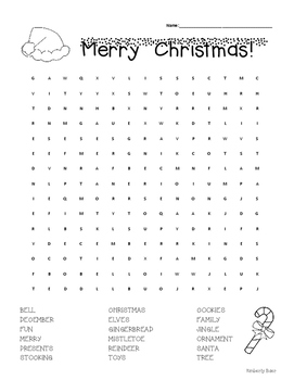 Christmas Word Search!