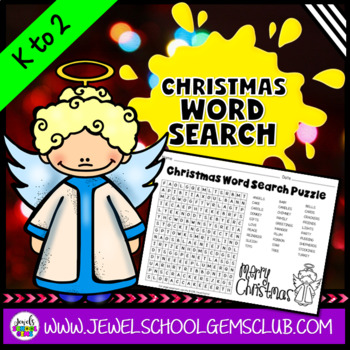 Christmas Word Search (Kindergarten, 1st and 2nd Grade)