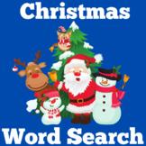 Christmas Word Search   Christmas Theme Word Search