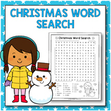 Christmas Word Search - Christmas Activities for 3rd Grade