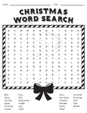 FREE Christmas Word Search