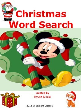 Christmas Word Search -  A fun activity