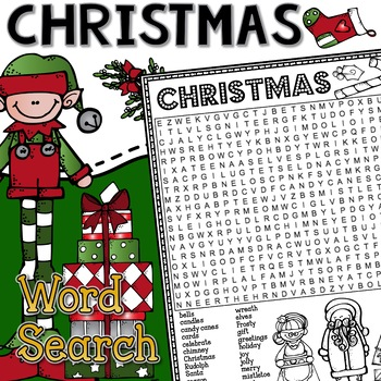 Christmas Word Search Activity