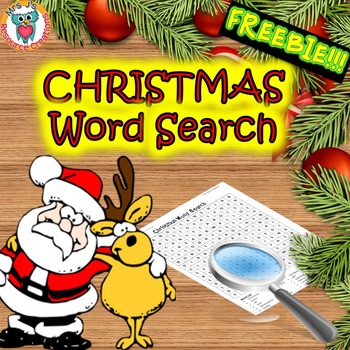 Christmas Word Search Activity FREE