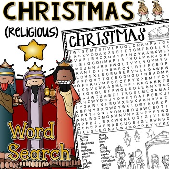 Christmas Word Search Activity Religious