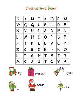 christmas word search easy - Christmas Word Search Games