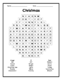 Christmas Word Search - English or ESL learners