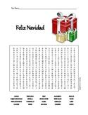 Christmas Word Search: Feliz Navidad