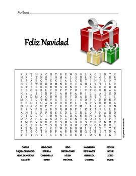 Christmas Word Search: Feliz Navidad by Alexis Dombrowsky   TpT
