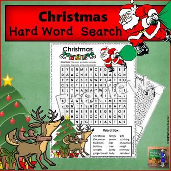 Christmas Word Search  * HARD