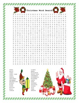 Christmas Word Search- Harder 30 Words