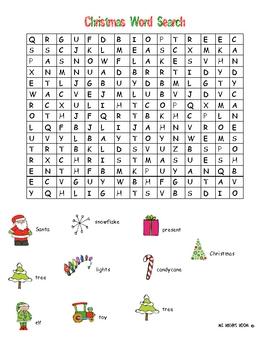 Christmas Word Search - MEDIUM