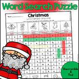 Christmas Word Search Puzzle - Unscramble and Find